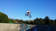 Young up and comers at Waikanae Skatepark