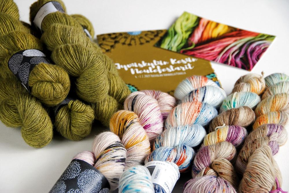 My Knit Fest 2019 yarn haul