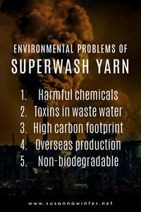 Environmental problems of superwash yarn