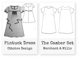 Comparing the Ottobre Pintuck Dress with The Camber Set
