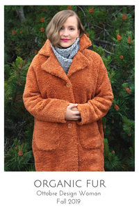 Organic Fur coat from the Ottobre Design Woman Fall 2019 issue