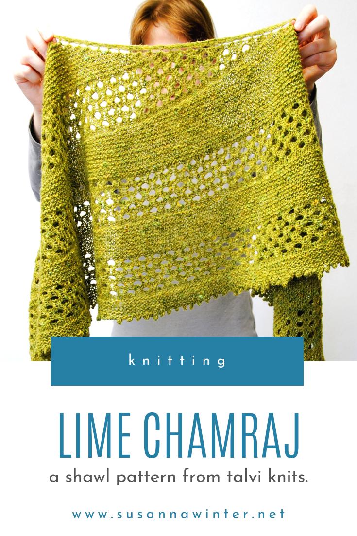 Lime Chamraj :: a shawl knitting pattern from talvi knits.