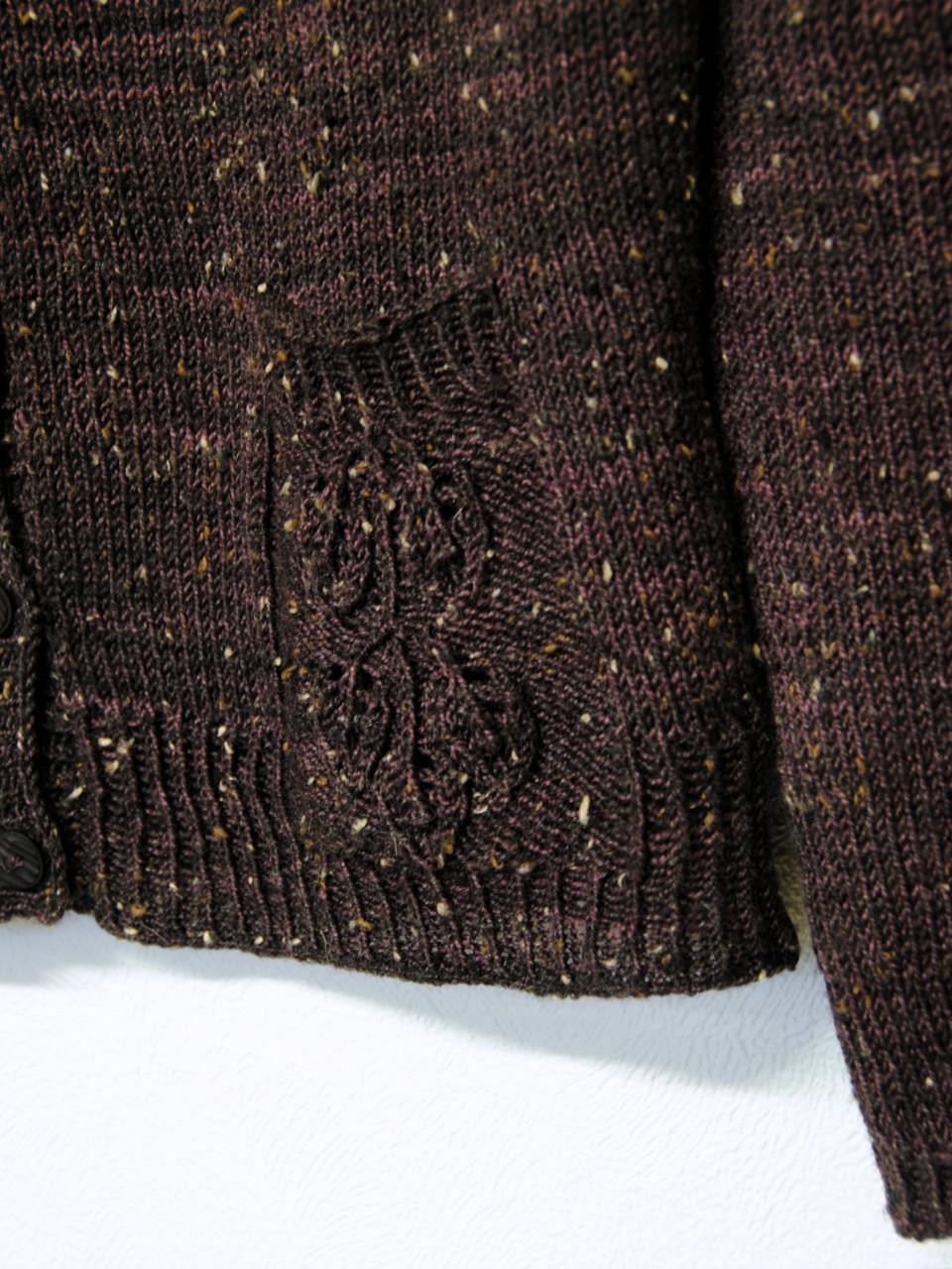 Mirkwood Cardigan lace pocket detail