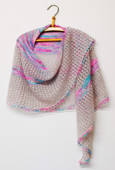Tears in Rain :: shawl knitting pattern