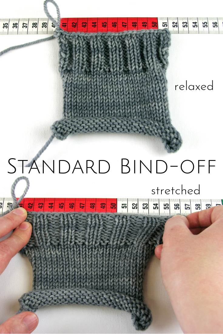 Standard bind-off: 11.5 cm relaxed, 16 cm stretched, 39% stretch percentage