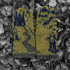 Horror-riffic Halloween Mystery Mittens 2019: Dracula's Lair :: colorwork mitten knitting pattern