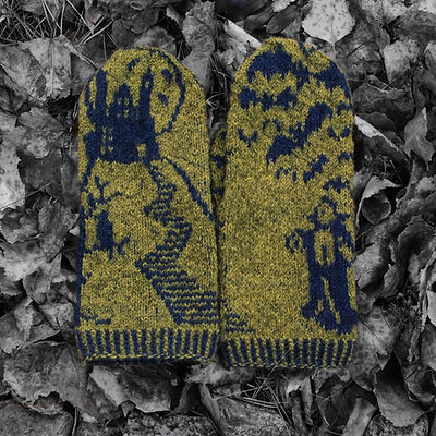 Dracula's Lair :: mittens knitting pattern