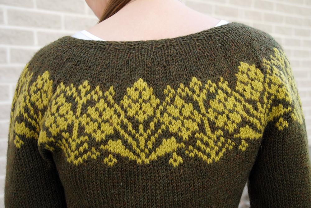 Rusty Cardigan by Steinunn Birna Gudjonsdottir, knit in Berroco Ultra Alpaca and DROPS Nepal