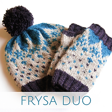 Frysa Duo :: colorwork knitting accessories