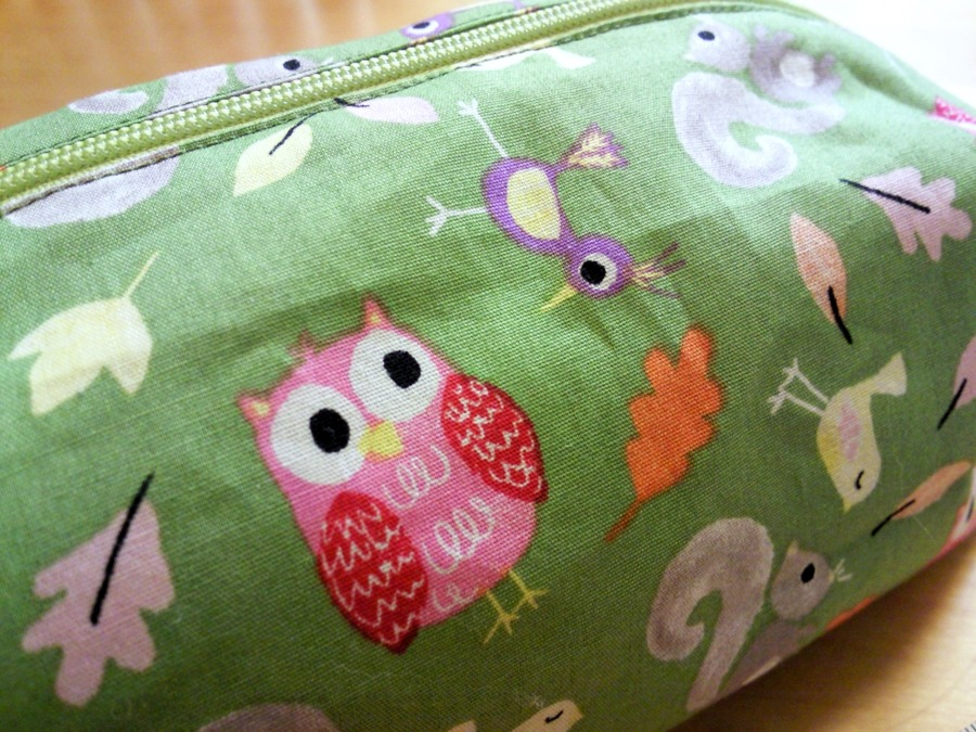 Fully lined zippered box pouch