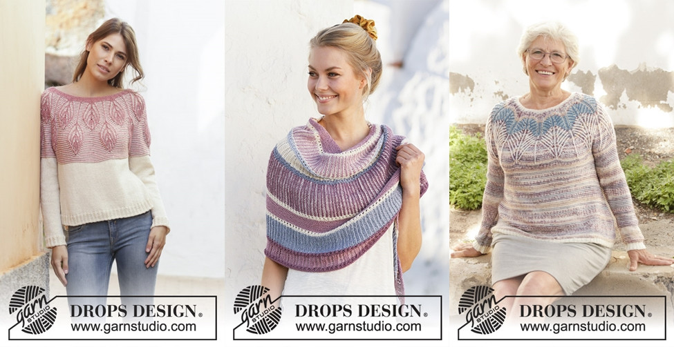 Brioche knitting patterns in the Garnstudio Spring/Summer 2019 collection