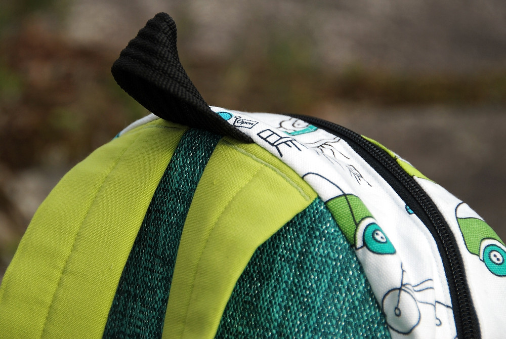Shoulder Strap Detail on the Taito Backpack