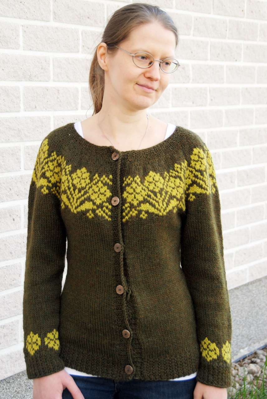 Rusty Cardigan by Steinunn Birna Gudjonsdottir, knit in Berroco Ultra Alpaca and DROPS Nepal