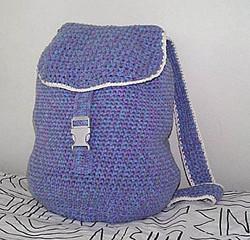 Crocheted backpack