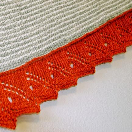 Rustwing :: shawl knitting pattern