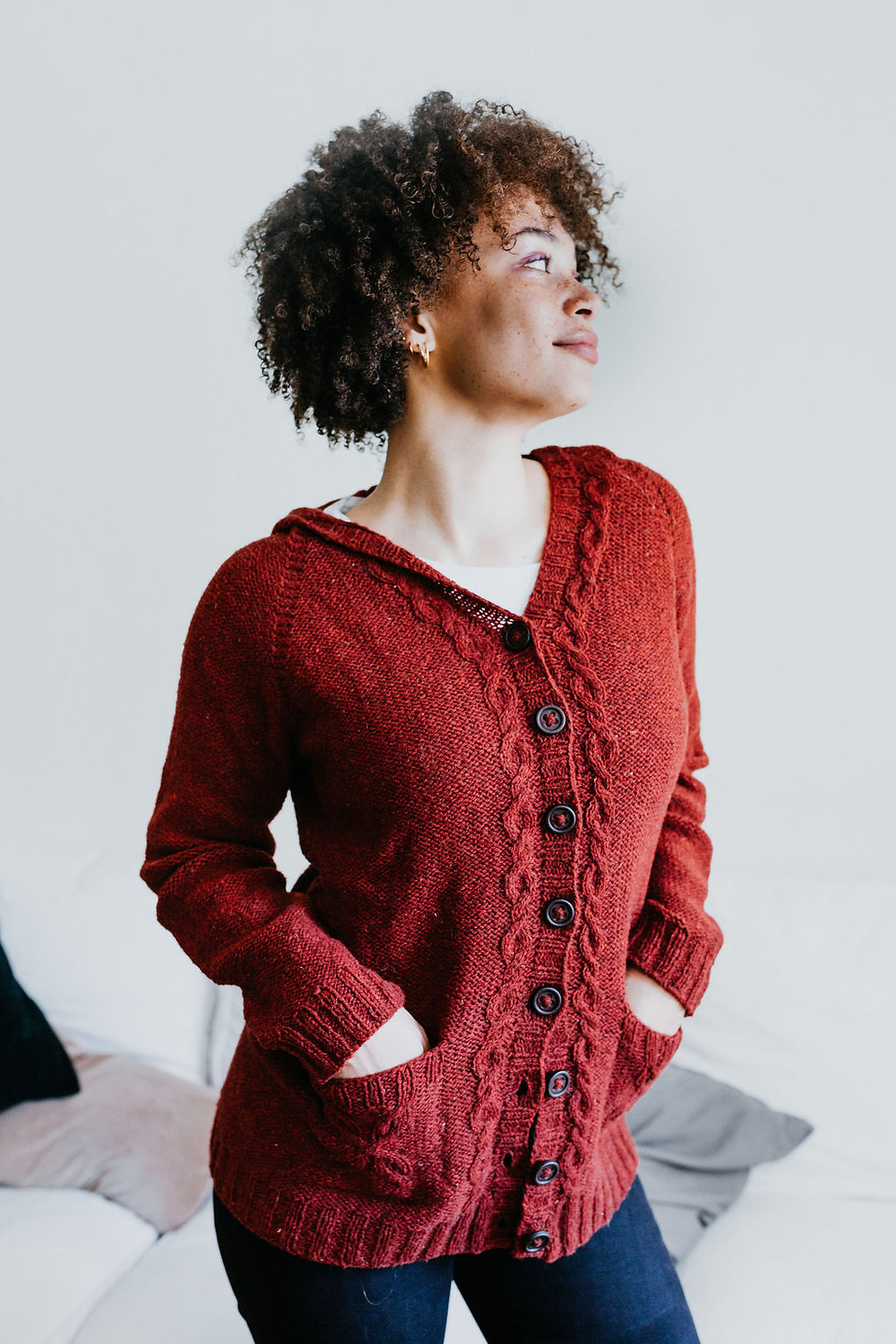 Zingiber :: a cabled cardigan knitting pattern