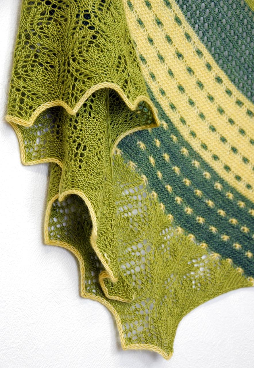 Spring It On! :: shawl knitting pattern