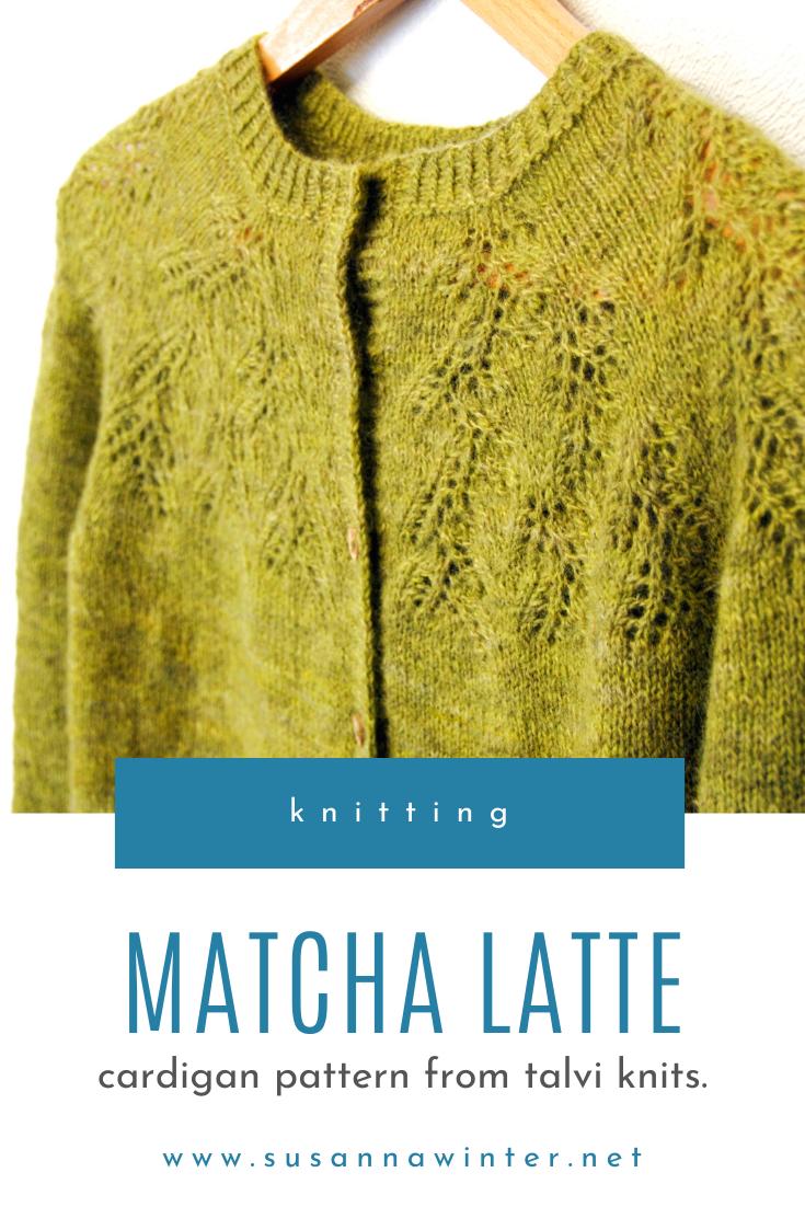 Matcha Latte :: cardigan knitting pattern from talvi knits.