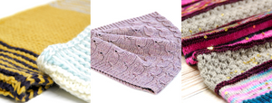 A selection of cowl knitting patterns from my 2019 Indie Design Gift-a-long bundle