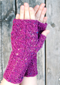 Wild Sage Mitts :: fingerless mitts knitting pattern