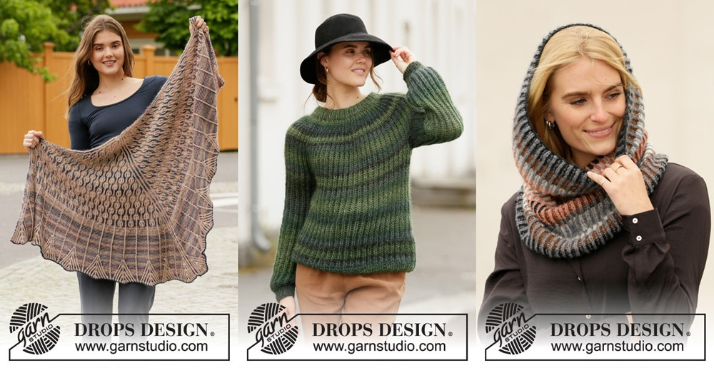 Brioche knitting patterns in the Garnstudio Fall/Winter 2019-2020 collection
