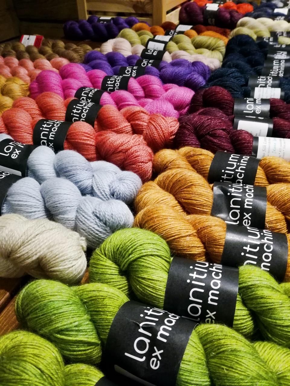 Hand dyed yarns from Lanitium Ex Machina