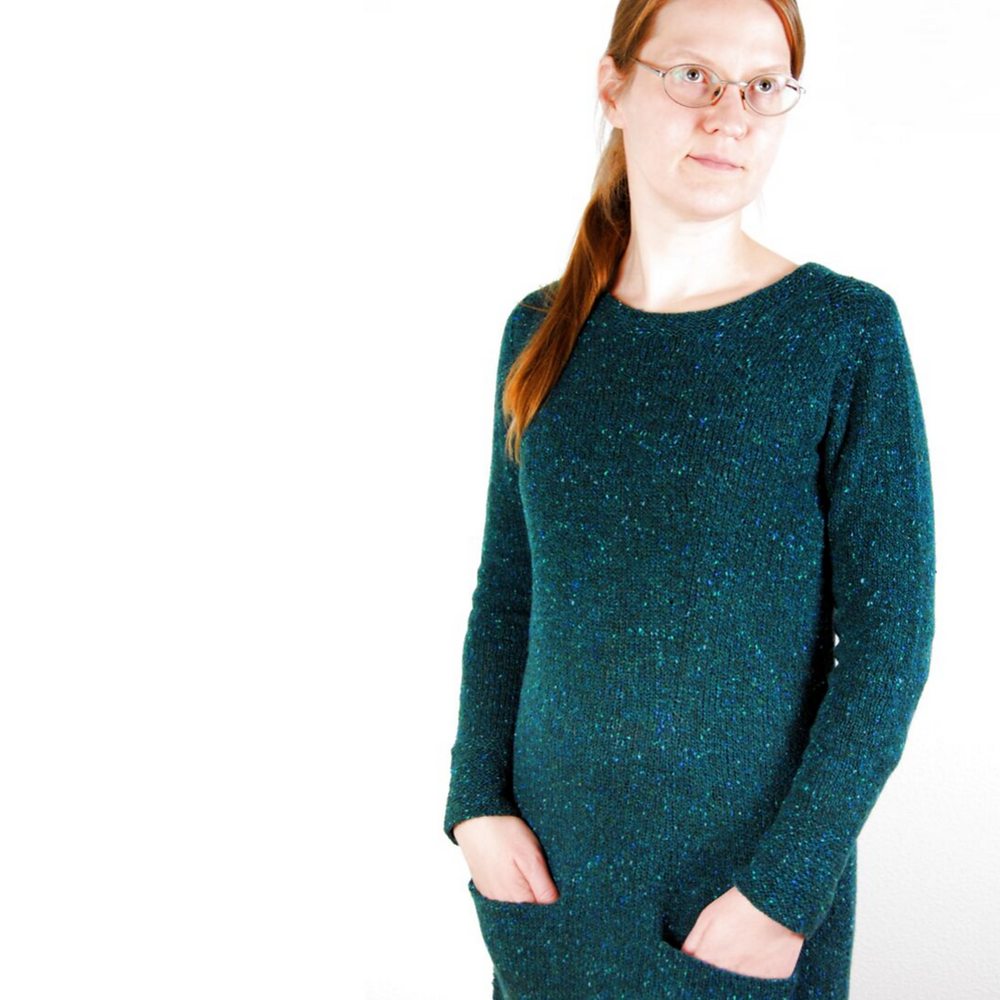 Tweed Is Still the New Black :: tunic knitting pattern