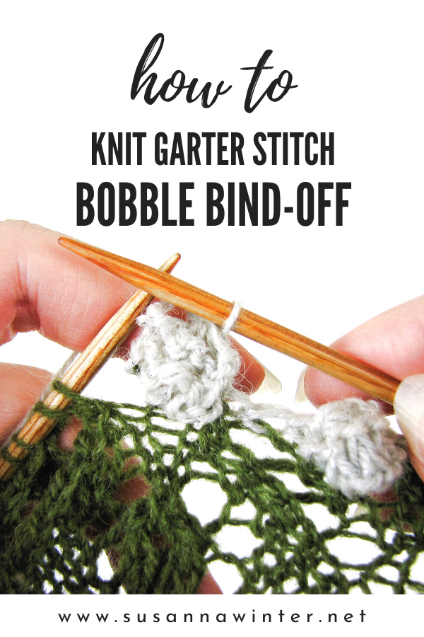 How to Knit Garter Stitch Bobble Bind-off [TUTORIAL]