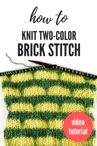 How to Knit Two-Color Brick Stitch [Tutorial]