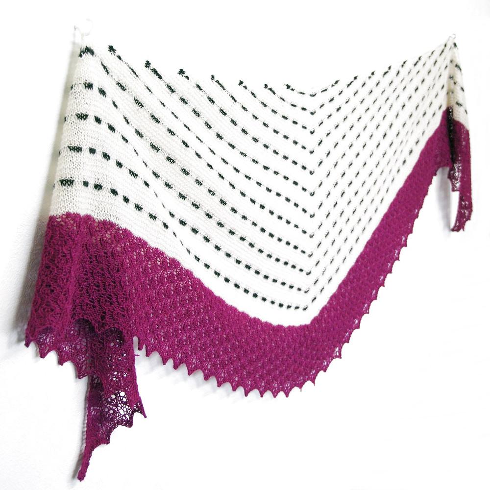 Enter the Dragon :: shawl knitting pattern