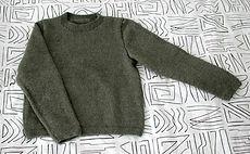 Chunky Moss Green Sweater :: free knitting pattern