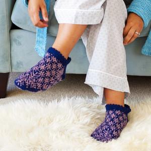Longest Night :: slippers knitting pattern