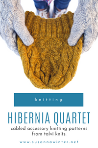 Hibernia Quartet :: set of accessory knitting patterns from talvi knits.