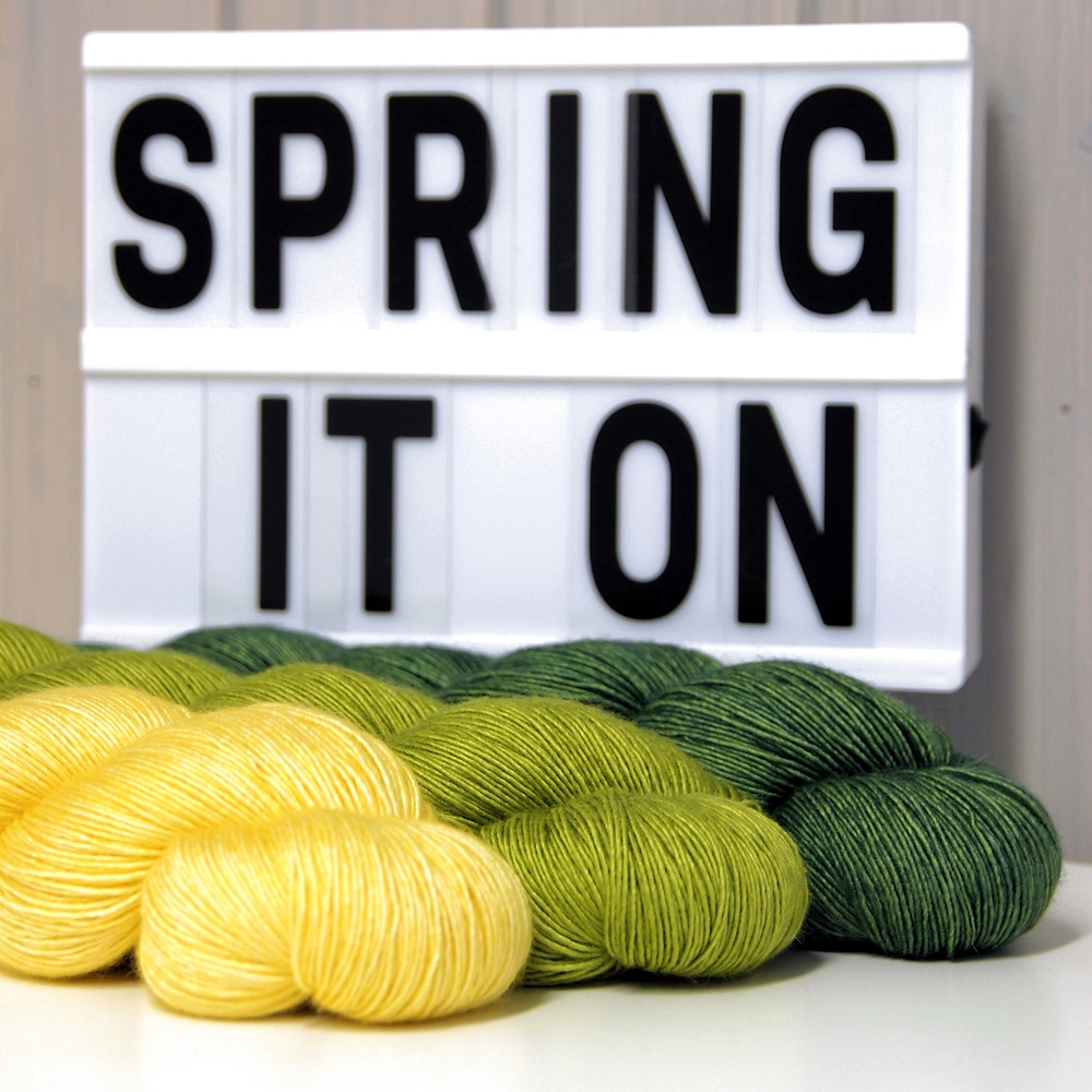 Spring It On! mystery shawl knitting pattern