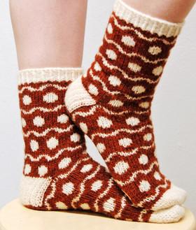 Soft Spots :: sock knitting pattern