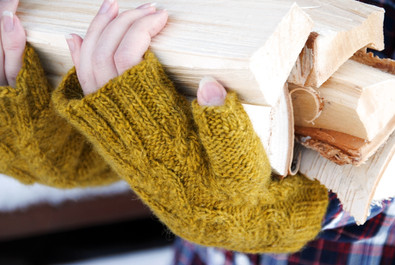 Hibernia Mitts :: fingerless mitts knitting pattern