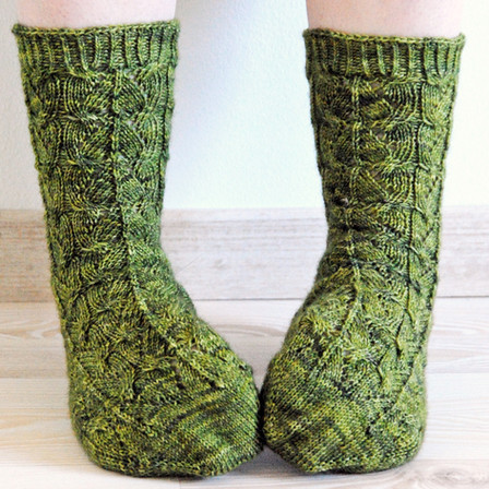 Interleaved :: sock knitting pattern