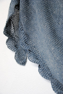 Soft River :: shawl knitting pattern