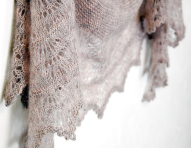 Milky Oolong :: shawl knitting pattern