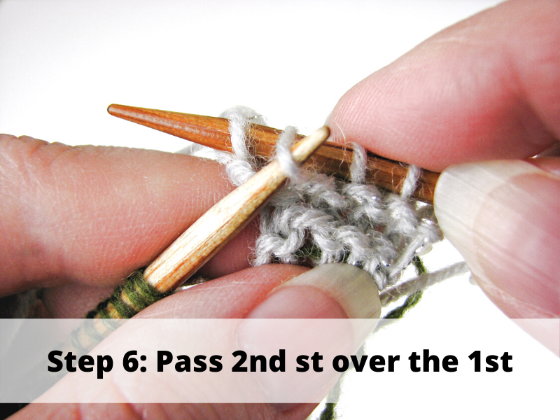 Step 6: Pass second stitch over the first