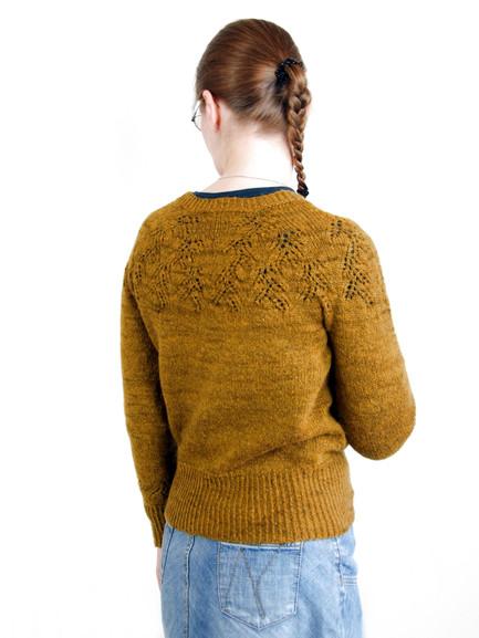 Golden Assam :: sweater knitting pattern