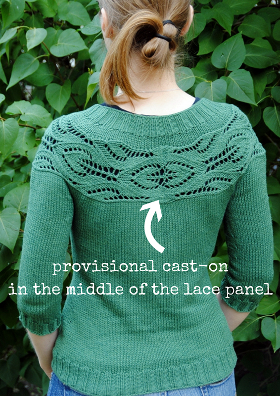 Lush by tincanknits uses a provisional cast-on