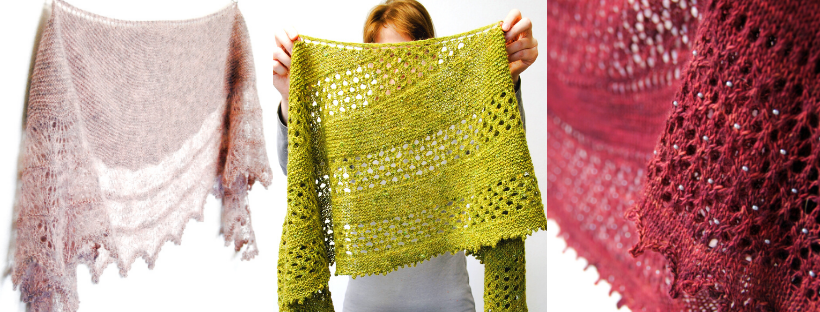 A selection of shawl knitting patterns from my 2019 Indie Design Gift-a-long bundle