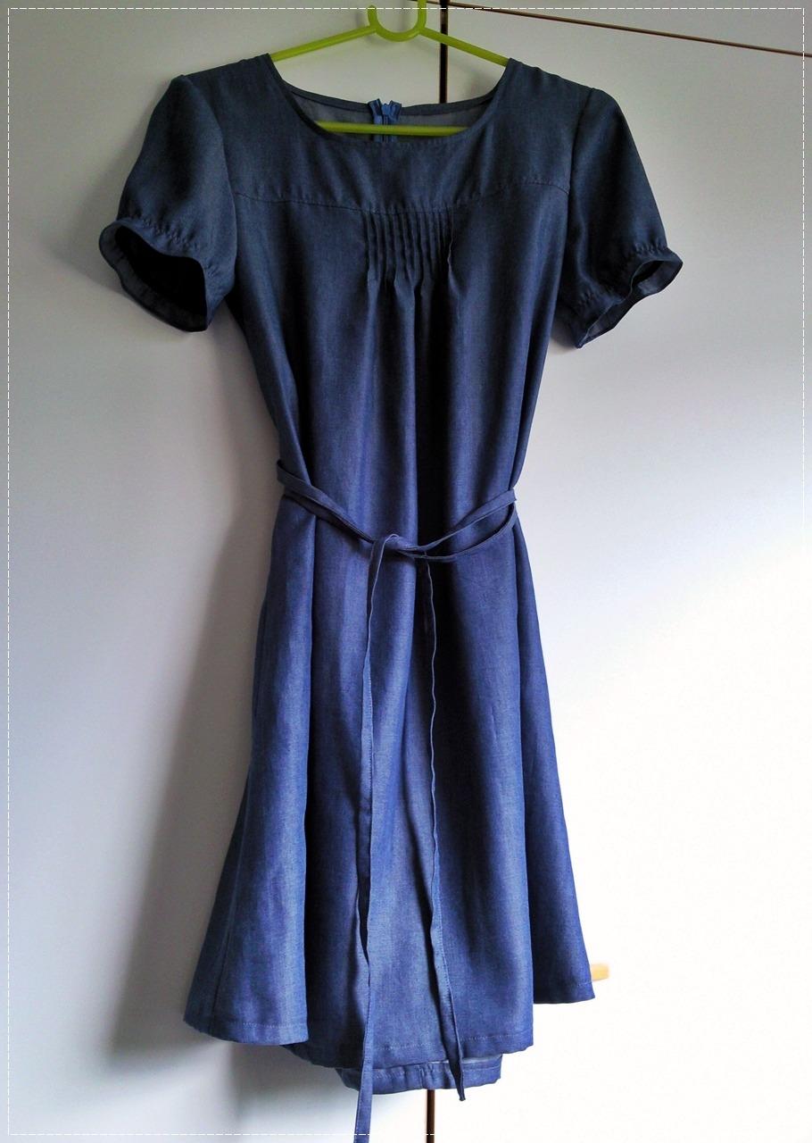 Chambray Pintuck Dress