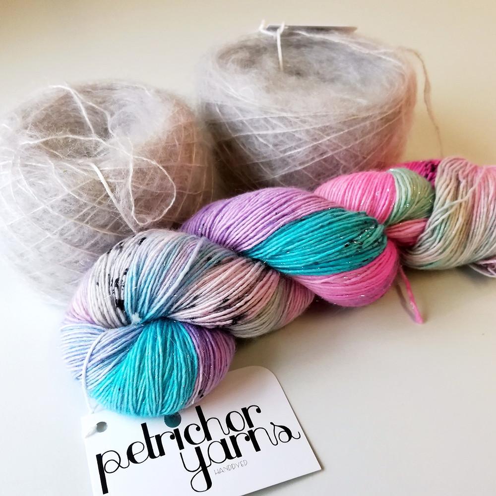 Petrichor Yarns Merino Stellina Singles & Mohair/Mulberry Silk