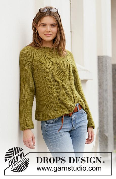 Garnstudio DROPS Design knitting pattern Mossy Twine