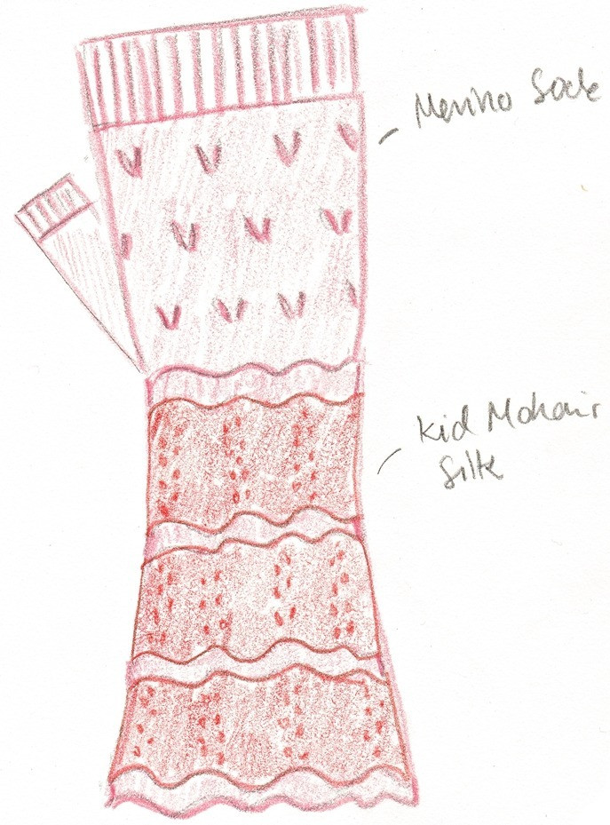 A hand-drawn sketch of Linnea Mitts.