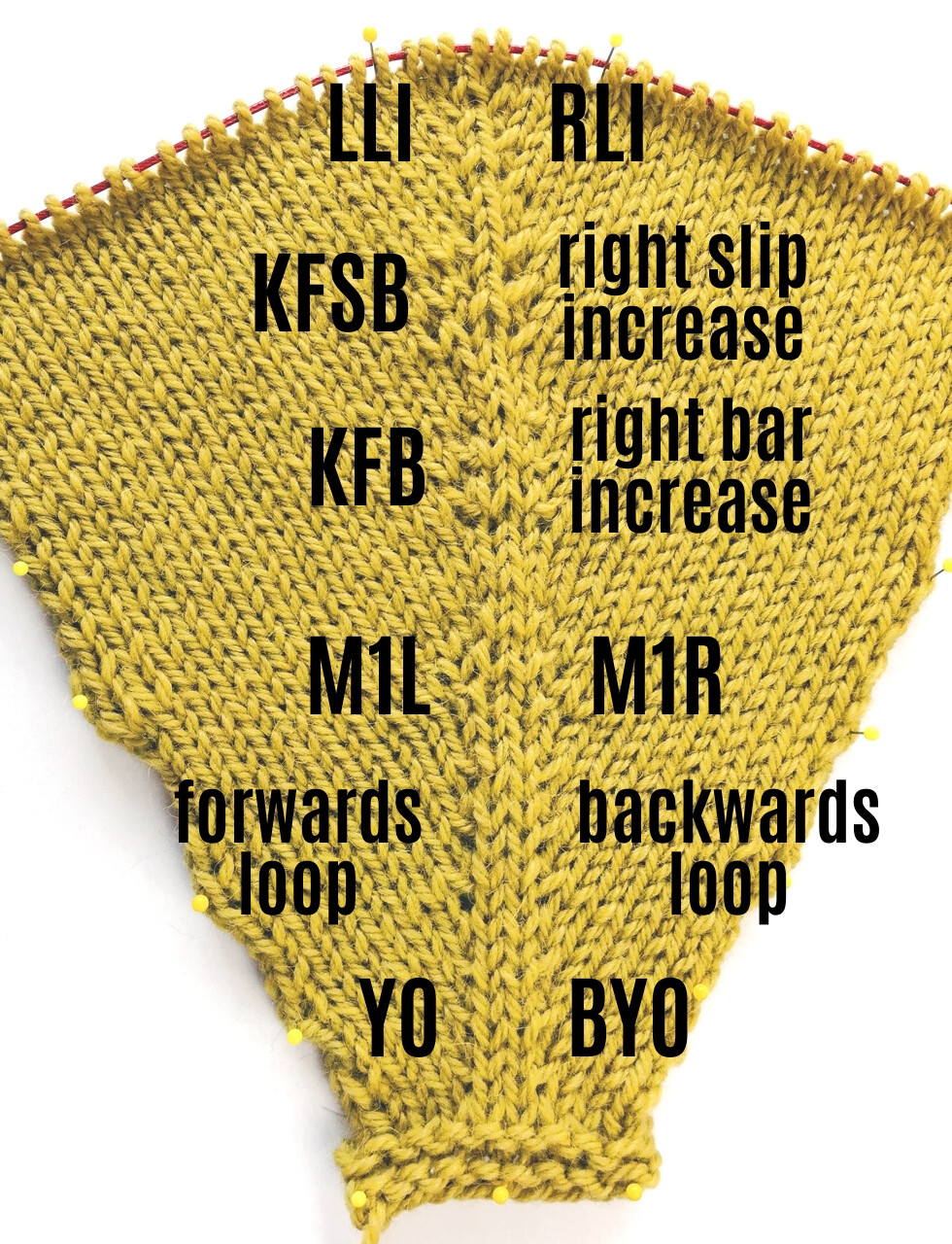 6 Ways to Knit Mirrored Increases