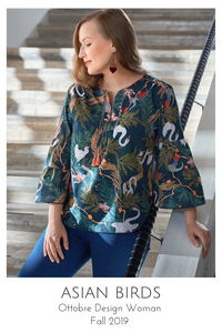 Asian Birds blouse from the Ottobre Design Woman Fall 2019 issue