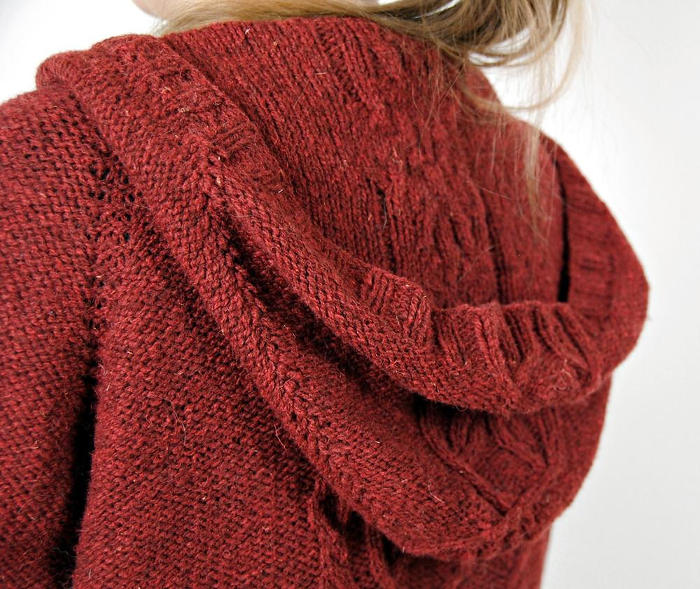 Zingiber :: a hooded cardigan knitting pattern